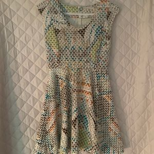 Chelsea and Violet Cream Quilted Dress